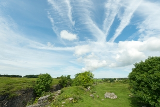 Ubley Warren blue sky cloud formation Matt Sweeting