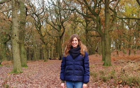 woman in forest wildlife trust