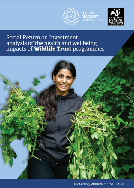 A social return on investment analysis of the health and wellbeing impacts of Wildlife Trust programmes report cover