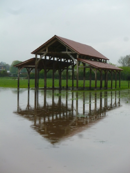 Longrun meadow oak barn, flooded