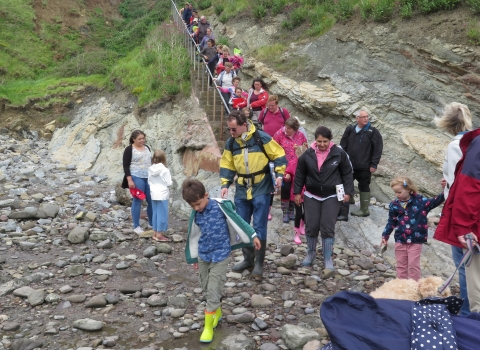 Families joining a rockpool ramble